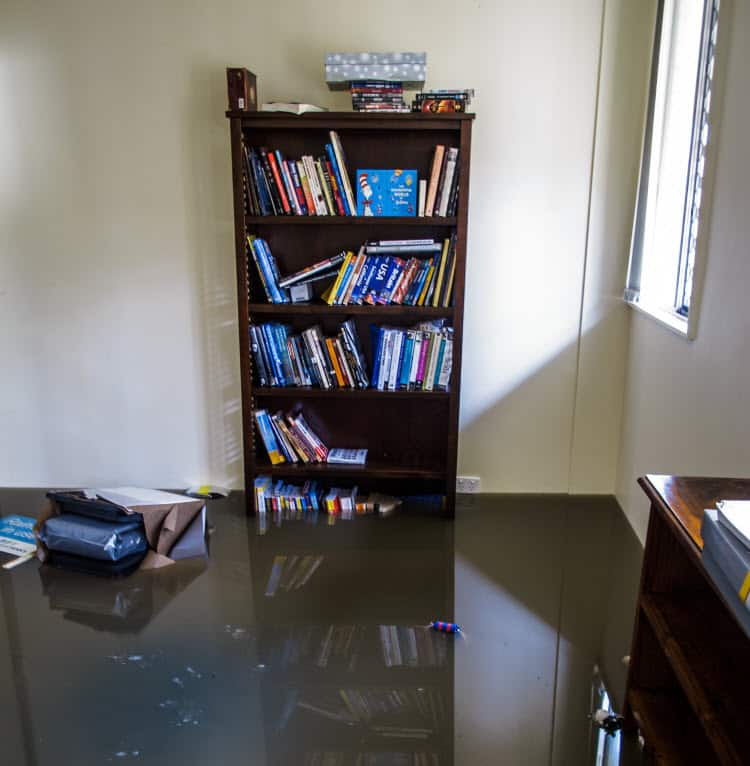 How do you clean your house after a flood?