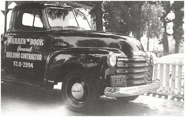Warren W. Book General Building Contractor Pickup Truck