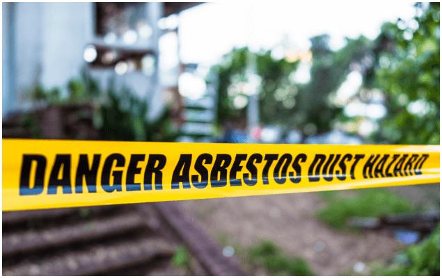 Danger Asbestos Dust Hazard tape