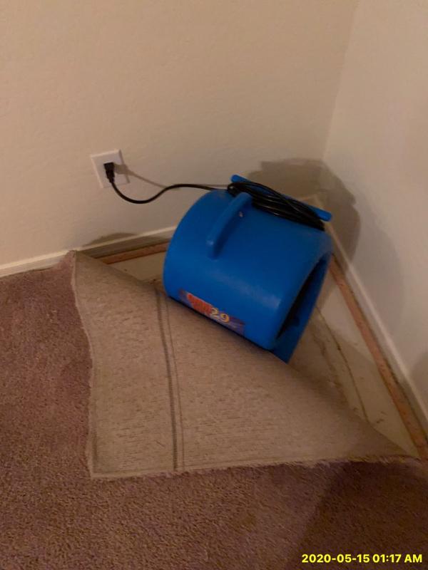 Water damage in house